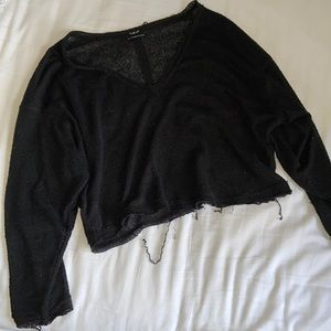 Urban Outfitters Distressed Crop Sweater